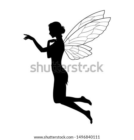 beautiful girl fairy silhouette