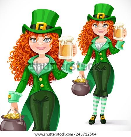 beautiful girl leprechaun with
