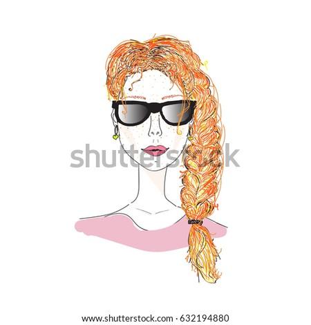 beautiful girl  redhead girl in
