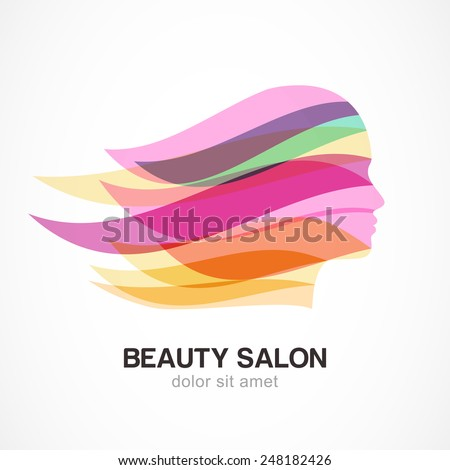 Hairstyle With Beautiful Long Hair Black Women Vector Silhouette Design For Beauty Salons Spa Cosmetics Fashion And