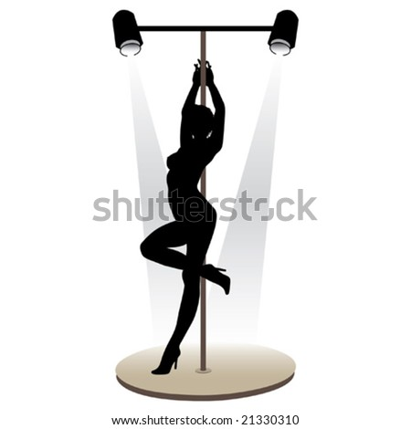 Beautiful girl striptease dancer vector illustration