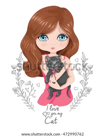 beautiful girl vector design i