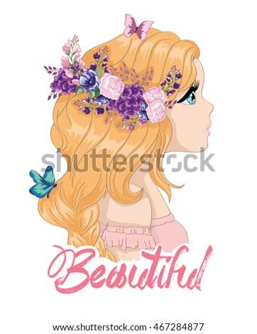 beautiful girl vector girl