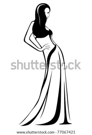 beautiful girl wearing a gown