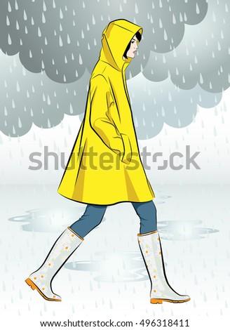 beautiful girl wearing yellow