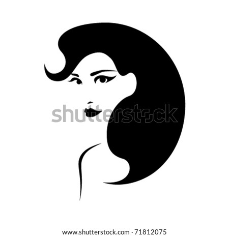 beautiful girl with perfect hairstyle vector