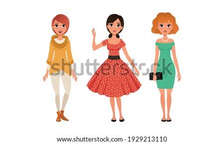 beautiful girls in fashionable