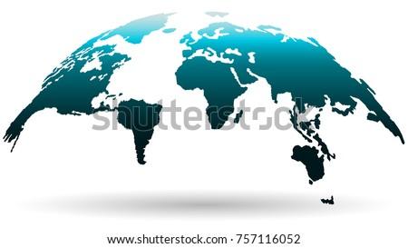 beautiful globe map in deep