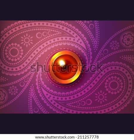 Beautiful glowing diwali vector background