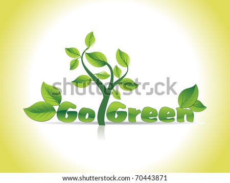 beautiful go green concept background, vector illustration