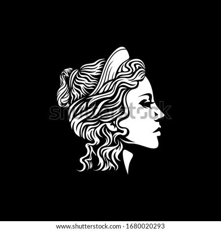 beautiful goddess vector logo design Photo stock ©