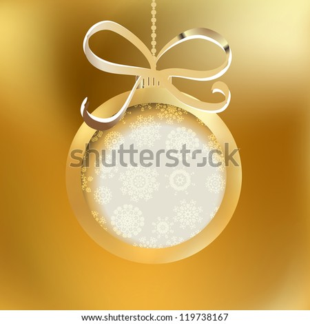 beautiful golden christmas ball