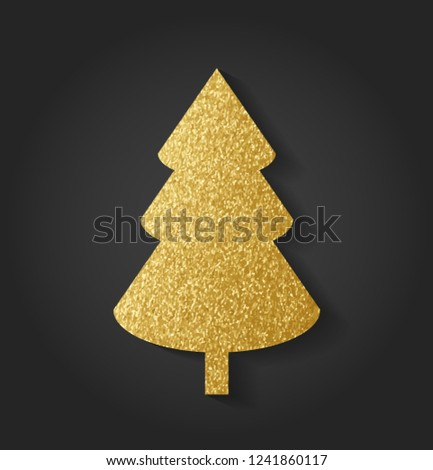 Beautiful Golden Christmas Tree #1241860117