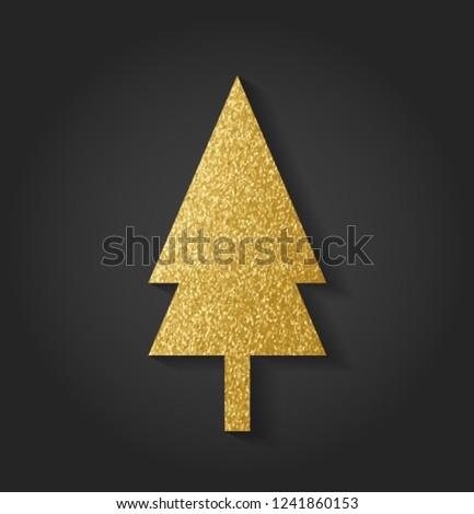 Beautiful Golden Christmas Tree #1241860153
