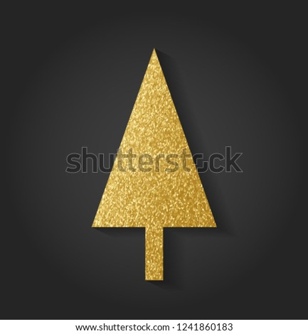Beautiful Golden Christmas Tree #1241860183