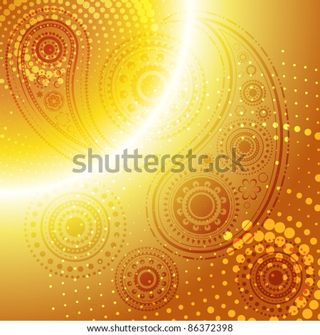 beautiful golden stylish vector background