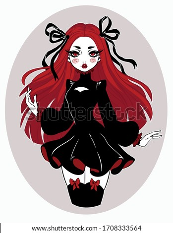 beautiful gothic doll in