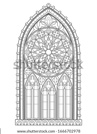 beautiful gothic stained glass