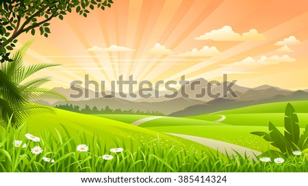 beautiful grasslands with