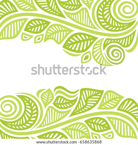 Beautiful green background of leaves. Vector illustration.