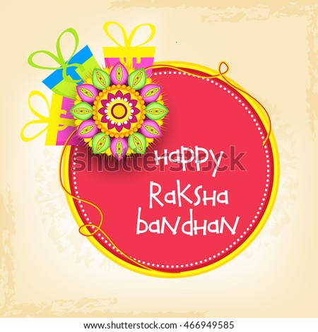 Royalty free raksha bandhan theme with rakhi and 108508532 stock beautiful greeting cardfor festival of raksha bandhan celebration 466949585 m4hsunfo