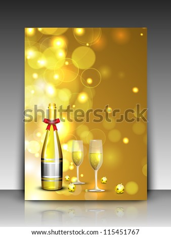 glasses for 2013 Happy New Year celebrations. EPS 10. - stock vector