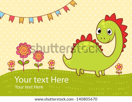 beautiful greeting card with