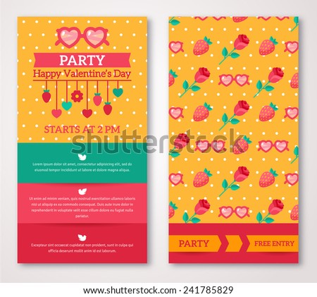 Beautiful greeting or invitation cards with flourish pattern. Valentine\'s day. Vector illustration. Typographic template for your text. Romantic Lovely Design for Mothers Day.