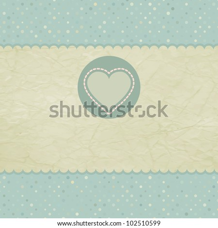 Beautiful greeting vintage Valentine`s card. And also includes EPS 8 vector