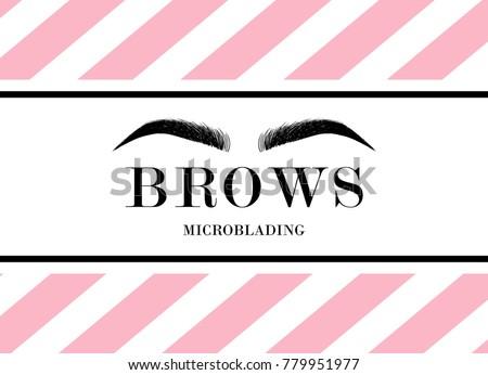 beautiful hand drawing eyebrows