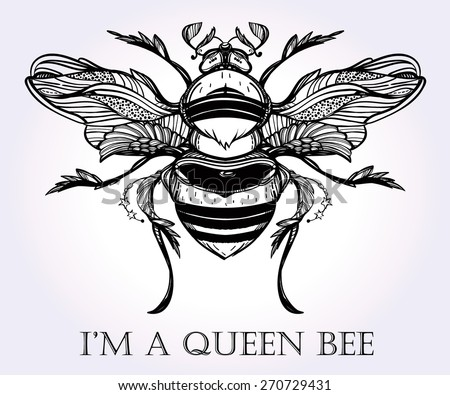 Vintage Honey Bee Print 84877 Usbdata