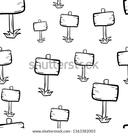 Beautiful hand drawn seamless pattern fashion billboard icon. Hand drawn black sketch. Sign / symbol / doodle. Isolated on white background. Flat design. Vector illustration. #1363382003