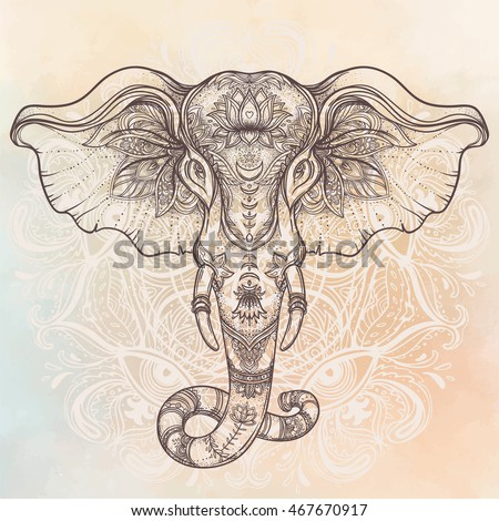Royalty Free Beautiful Hand Drawn Tribal Style 453880351 Stock