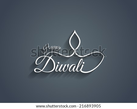 beautiful happy diwali text