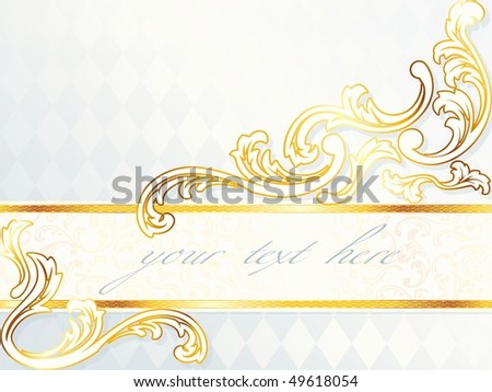 stock vector Beautiful horizontal rococo wedding banner