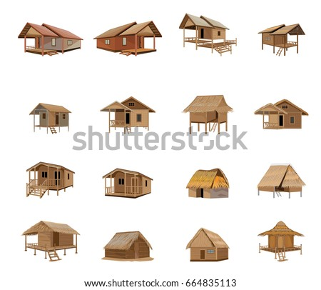 beautiful hut vector design