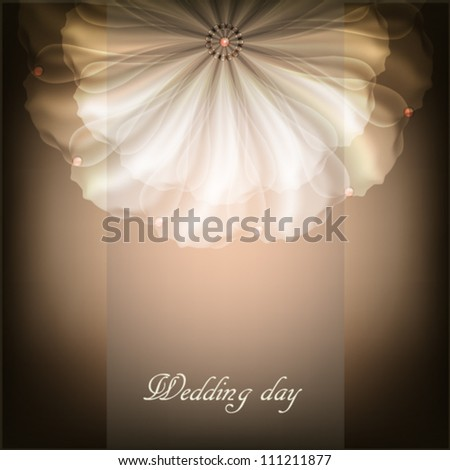 Beautiful illustration with white flower