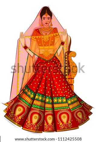 beautiful indian bride in