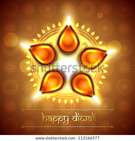 beautiful indian festival diwali vector design