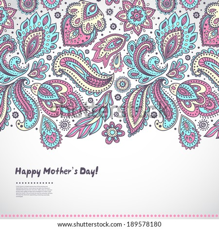 Beautiful Indian floral ornament for Mother's day