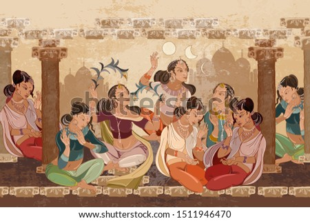 beautiful indian girls in harem