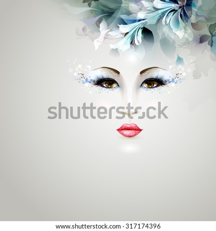 beautiful individual woman with