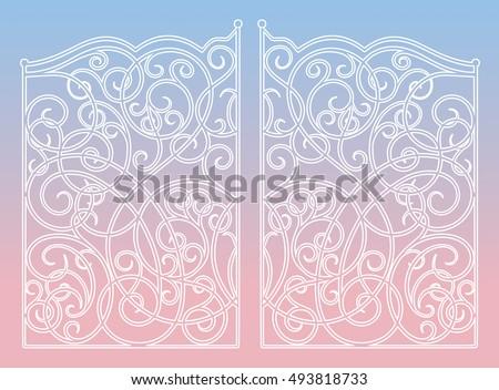 beautiful iron ornament gates