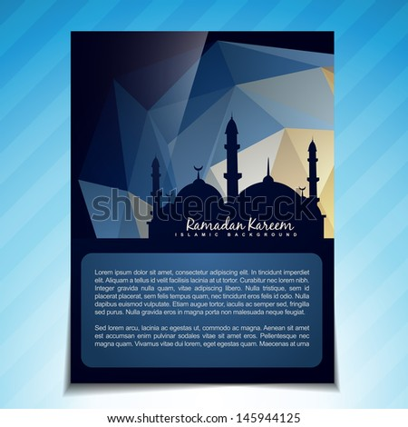 beautiful islamic template vector design