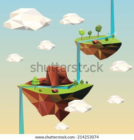 beautiful islands floating in