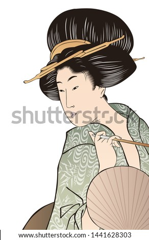 beautiful japanese woman in her