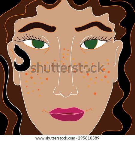 beautiful jewish girl   vector