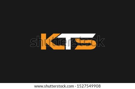 Beautiful KTS logo design template Stock fotó ©