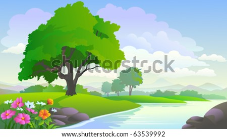 BEAUTIFUL LAKE VIEW AND TREES