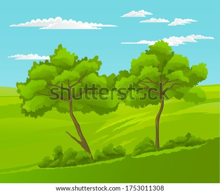 beautiful landscape with green